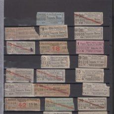 Coleccionismo Billetes de transporte: COLECCION 572 BILLETE CAPICUA NUMERO DIFERENTE MADRID TRANVIAS AUTOBUSES ACTUALIZADO - LEER INTERIOR. Lote 167950912
