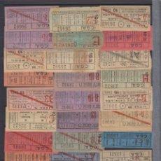 Coleccionismo Billetes de transporte: COLECCION 216 CAPICUA NUMERO DIFERENTE COMPAÑIA GENERAL AUTOBUSES CGA ACTUALIZADO - LEER INTERIOR. Lote 167951728
