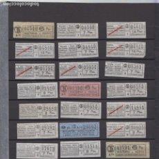 Coleccionismo Billetes de transporte: LOTE 39 BILLETES CAPICUA NUMERO DIFERENTE LOGO TB Y PRECIO IGUAL O SUPERIOR A 6 PESETAS. Lote 167952712