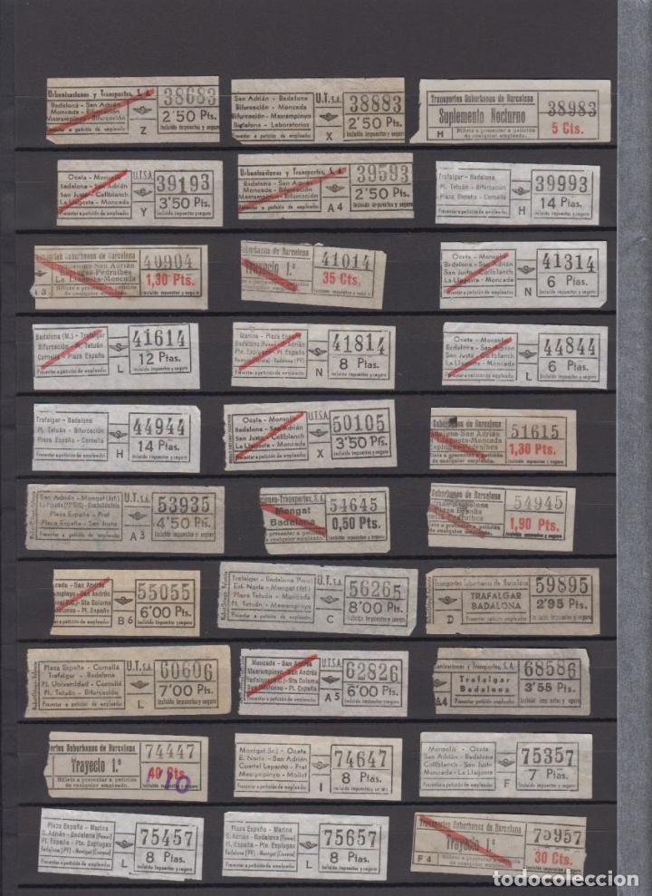 Coleccionismo Billetes de transporte: LOTE 77 BILLETES CAPICUA NUMERO DIFERENTE URBAS URBANIZACIONES Y TRANSPORTES - Foto 2 - 167952832