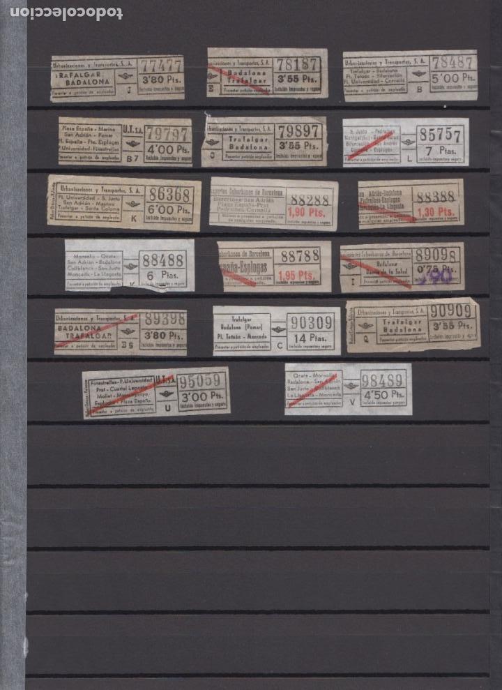 Coleccionismo Billetes de transporte: LOTE 77 BILLETES CAPICUA NUMERO DIFERENTE URBAS URBANIZACIONES Y TRANSPORTES - Foto 3 - 167952832