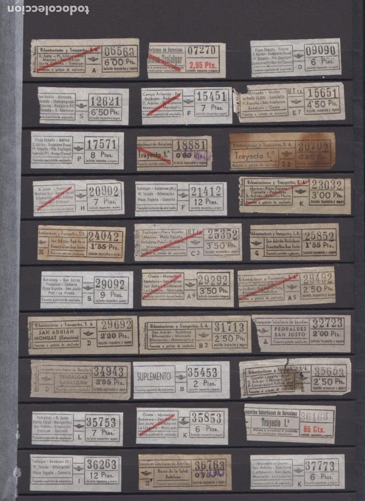 LOTE 77 BILLETES CAPICUA NUMERO DIFERENTE URBAS URBANIZACIONES Y TRANSPORTES (Coleccionismo - Billetes de Transporte)