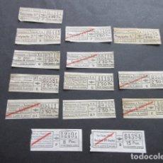 Coleccionismo Billetes de transporte: LOTE 14 BILLETES DE URBAS URBANIZACIONES Y TRANSPORTES TRAYECTOS DIFERENTES TODOS. Lote 168176000