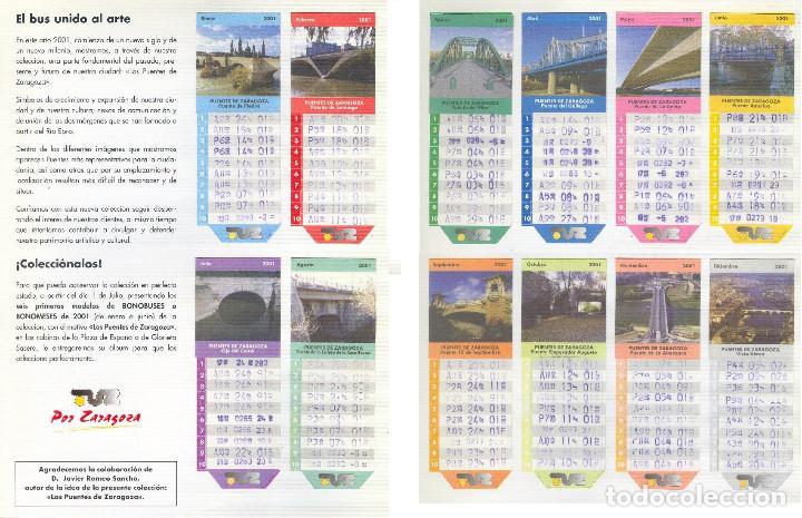 Coleccionismo Billetes de transporte: Coleccion Bonobuses de Zaragoza. Años 1996 a 2001 Inc. Carpetas oficiales completas. EX - Foto 2 - 154875518