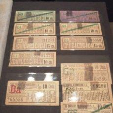 Coleccionismo Billetes de transporte: LOTE DE 70 BILLETES DE TRANSPORTE (INCLUIDOS CAPICUAS). Lote 168234308