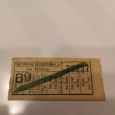 Coleccionismo Billetes de transporte: 004. BILLETE DE TRANSPORTE. LOS TRANVÍAS DE BARCELONA. 15 CENTS. CAPICUA. Lote 168308752