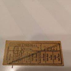 Coleccionismo Billetes de transporte: 007. BILLETE DE TRANSPORTE. TRANVÍAS DE BARCELONA. CAPICUA. 5 CENTS.. Lote 168309581