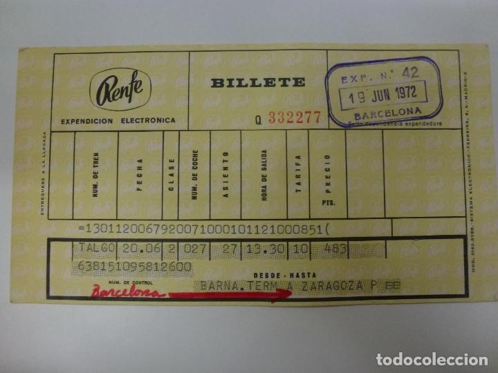 BILLETE RENFE. 1972. (Coleccionismo - Billetes de Transporte)