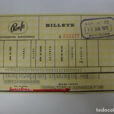 Coleccionismo Billetes de transporte: BILLETE RENFE. 1972.. Lote 168461808
