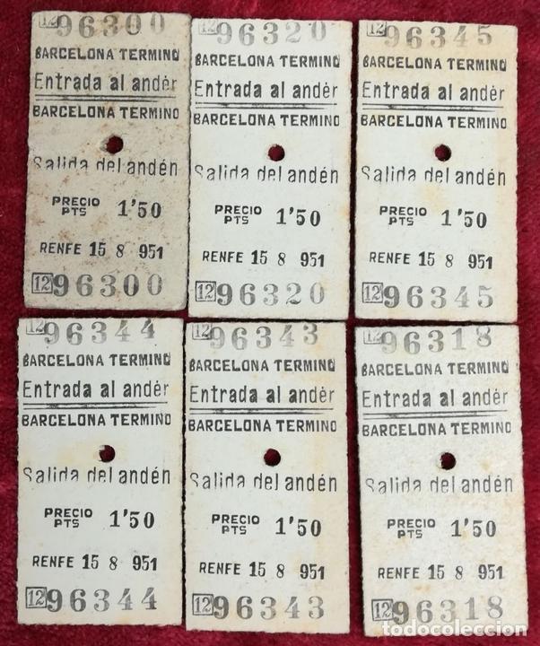 Coleccionismo Billetes de transporte: FERROCARRIL. LOTE DE 2538 BILLETES DE TRANSPORTE. RENFE. VARIOS AÑOS. ESPAÑA - Foto 10 - 168468232