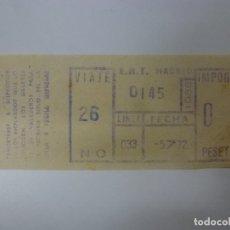 Coleccionismo Billetes de transporte: BILLETE DE TRANSPORTE DE AUTOBUSES DE MADRID AÑO 1972.. Lote 168545060