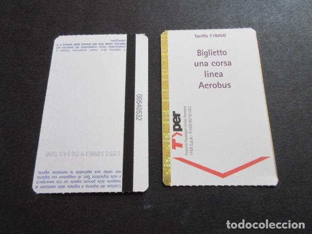 BILLETE LANZADERA AEROBUS AEROPUERTO DE BOLONIA ITALIA (Coleccionismo - Billetes de Transporte)