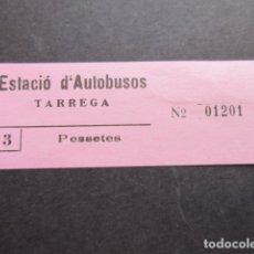 Coleccionismo Billetes de transporte: BILLETE EDALSA ESTACION DE AUTOBUSES DE TARREGA 3 PESETAS. Lote 168565036