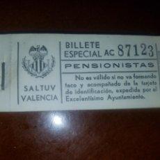 Coleccionismo Billetes de transporte: TACO DE BILLETES AUTOBÚS SALTUV VALENCIA. Lote 168567281