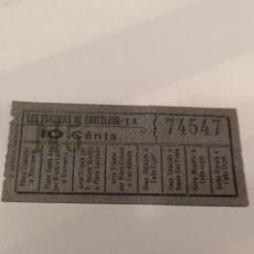 Coleccionismo Billetes de transporte: 022. BILLETE DE TRANSPORTE. LOS TRANVÍAS DE BARCELONA. 10 CENTS. CAPICUA. Lote 168755086