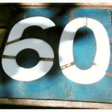 Coleccionismo Billetes de transporte: INDICADOR LINEA 60 TRANVIAS.BARCELONA. Lote 169691348