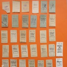 Coleccionismo Billetes de transporte: METRO DE MADRID 39 BILLETES DIFERENTES - LEER INTERIOR. Lote 170167817