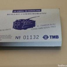 Coleccionismo Billetes de transporte: TALONARIO 67 BILLETES CONMEMORATIVOS TRANVIA BLAU TIBIDABO BARCELONA. Lote 170349040