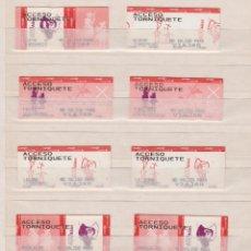 Coleccionismo Billetes de transporte: RENFE CERCANIAS MADRID - 14 BILLETES ESTACIONES DIFERENTES ACCESO TOR - 400 IV CENTENARIO EL QUIJOTE. Lote 170943250