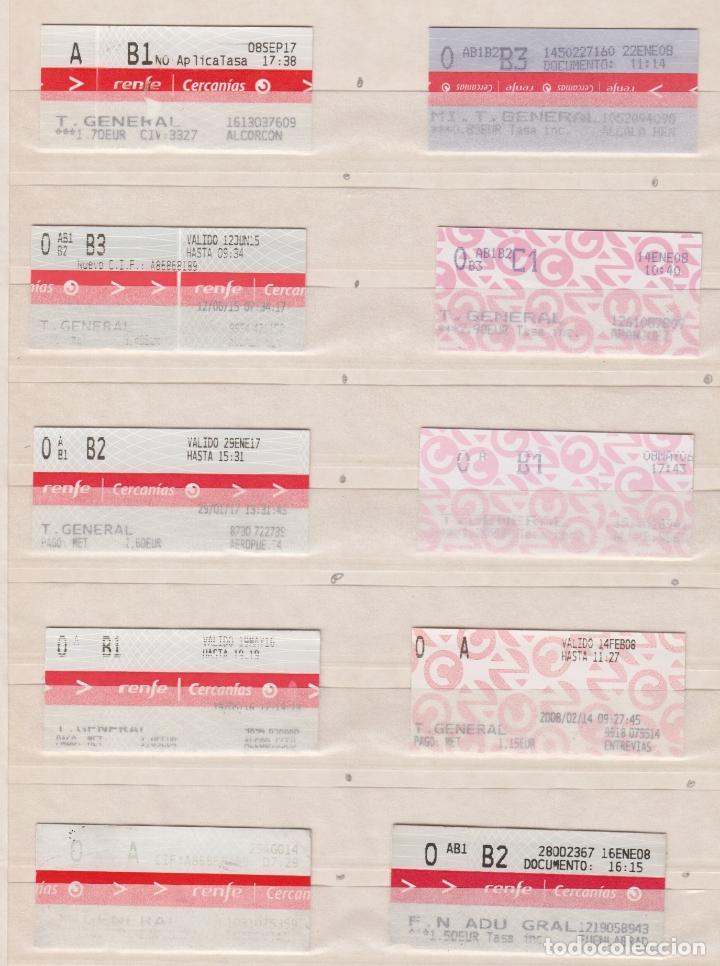RENFE CERCANIAS MADRID - 33 BILLETES ESTACIONES DIFERENTES VER LAS FOTOS - MODELOS DIFERENTES BILLET (Coleccionismo - Billetes de Transporte)
