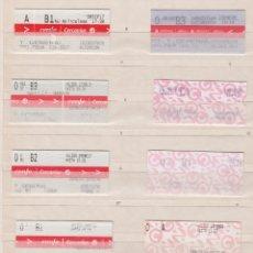 Coleccionismo Billetes de transporte: RENFE CERCANIAS MADRID - 33 BILLETES ESTACIONES DIFERENTES VER LAS FOTOS - MODELOS DIFERENTES BILLET. Lote 170943315
