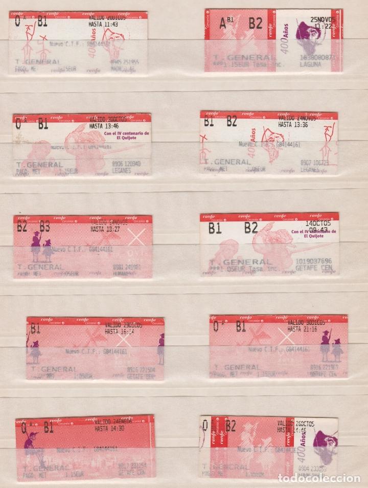 Coleccionismo Billetes de transporte: RENFE CERCANIAS MADRID - 20 BILLETES ESTACIONES DIFERENTES VER LAS FOTOS - IV CENTENARIO EL QUIJOTE - Foto 2 - 170943615
