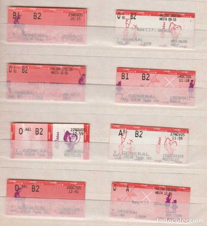 RENFE CERCANIAS MADRID - 20 BILLETES ESTACIONES DIFERENTES VER LAS FOTOS - IV CENTENARIO EL QUIJOTE (Coleccionismo - Billetes de Transporte)
