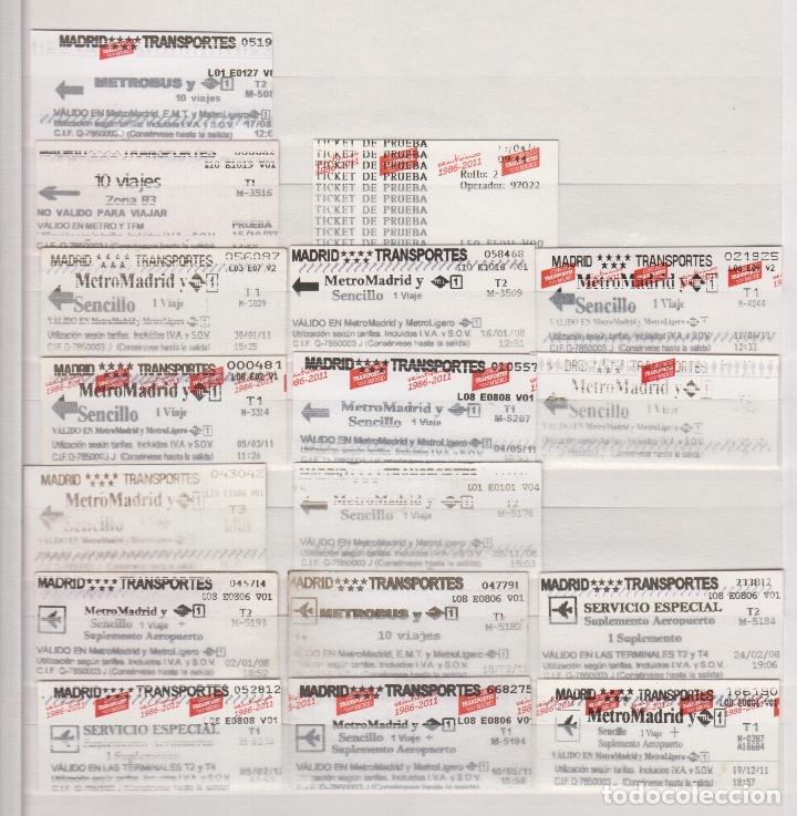 Coleccionismo Billetes de transporte: COLECCION 41 BILLETES DIFERENTES METRO MADRID OJOJO VER FOTOS LEER INTERIOR TODOS DIFERENTES - Foto 2 - 170943870