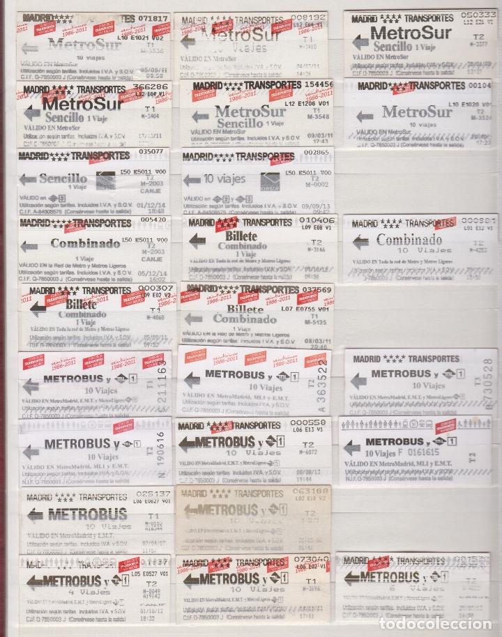 COLECCION 41 BILLETES DIFERENTES METRO MADRID OJOJO VER FOTOS LEER INTERIOR TODOS DIFERENTES (Coleccionismo - Billetes de Transporte)