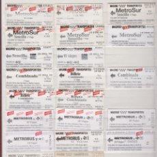 Coleccionismo Billetes de transporte: COLECCION 41 BILLETES DIFERENTES METRO MADRID OJOJO VER FOTOS LEER INTERIOR TODOS DIFERENTES. Lote 170943870