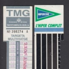 Coleccionismo Billetes de transporte: TARJETA RESISTIVA GIRONA GERONA CARNET JOVE. Lote 170943945