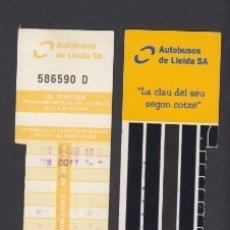 Coleccionismo Billetes de transporte: TARJETA RESISTIVA LLEIDA LERIDA 10 VIAJES. Lote 170943970