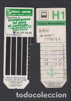 TARJETA RESISTIVA H1 AUTHOSA - PUBLICIDAD GONZALO Y MARTINEZ (Coleccionismo - Billetes de Transporte)