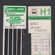 Coleccionismo Billetes de transporte: TARJETA RESISTIVA H1 AUTHOSA - PUBLICIDAD GONZALO Y MARTINEZ . Lote 170944005