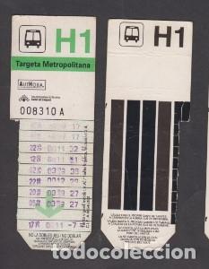 TARJETA RESISTIVA H1 AUTHOSA - SIN PUBLICIDAD (Coleccionismo - Billetes de Transporte)