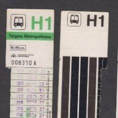 Coleccionismo Billetes de transporte: TARJETA RESISTIVA H1 AUTHOSA - SIN PUBLICIDAD . Lote 170944015