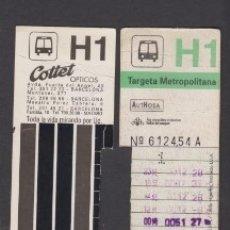 Coleccionismo Billetes de transporte: TARJETA RESISTIVA H1 AUTHOSA - PUBLICIDAD COTTET OPTICOS . Lote 170944035