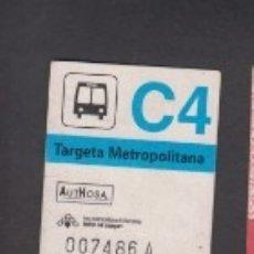Coleccionismo Billetes de transporte: TARJETA RESISTIVA C4 AUTHOSA - SIN PUBLICIDAD. Lote 170944060