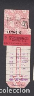 Coleccionismo Billetes de transporte: TARJETA RESISTIVA EMT MADRID 660 PESETAS PUBLICIDAD PANS & COMANY - Foto 2 - 170944100
