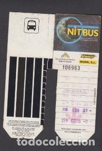 TARJETA RESISTIVA NITBUS TUBSAL Y MOHN (Coleccionismo - Billetes de Transporte)