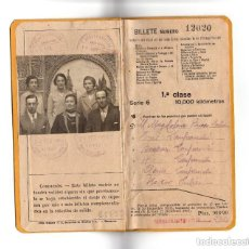 Coleccionismo Billetes de transporte: FERROCARRILES BILLETE KILOMETRICO TARIFA 109 SERIE 6 1º CLASE 10000 KM - FECHADO 1936. Lote 171138152