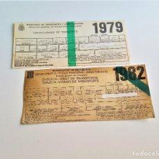 Coleccionismo Billetes de transporte: TARJETAS-VISADO DE TRANSPORTE - 1979-1982 - MINISTERIO OBRAS PÚBLICAS - TRANSPORTES TERRESTRES. Lote 171231150