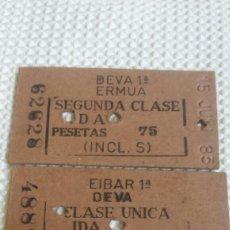 Coleccionismo Billetes de transporte: ANTIGUOS BILLETES DE TREN. Lote 171252410