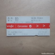Coleccionismo Billetes de transporte: BILLETE TRANSPORTE RENFE CERCANIAS MADRID 2014. Lote 171381353