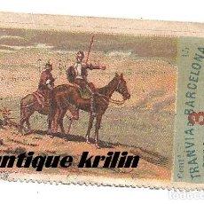 Coleccionismo Billetes de transporte: BILLETE TRANVIA DE BARCELONA , ENSANCHE GRACIA .- SERIE DON QUIJOTE . Lote 171547519