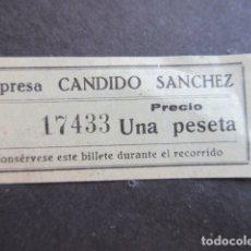 Coleccionismo Billetes de transporte: BILLETE MALAGA EMPRESA CANDIDO SANCHEZ. Lote 171621872
