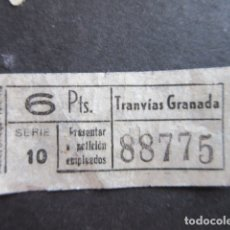 Coleccionismo Billetes de transporte: BILLETE TRANVIAS DE GRANADA. Lote 171622003