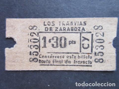 BILLETE TRANVIAS DE ZARAGOZA (Coleccionismo - Billetes de Transporte)