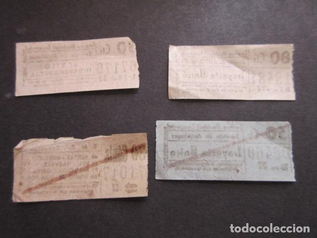 Coleccionismo Billetes de transporte: 4 BILLETE CAPICUA NUMERO Y BILLETES DIFERENTES TRANVIAS Y AUTOBUSES MADRID 67176 71017 06460 18481 - Foto 2 - 171622963