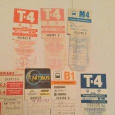 Coleccionismo Billetes de transporte: BILLETES BUS - LOTE DE 7 - BARCELONA. Lote 171883643